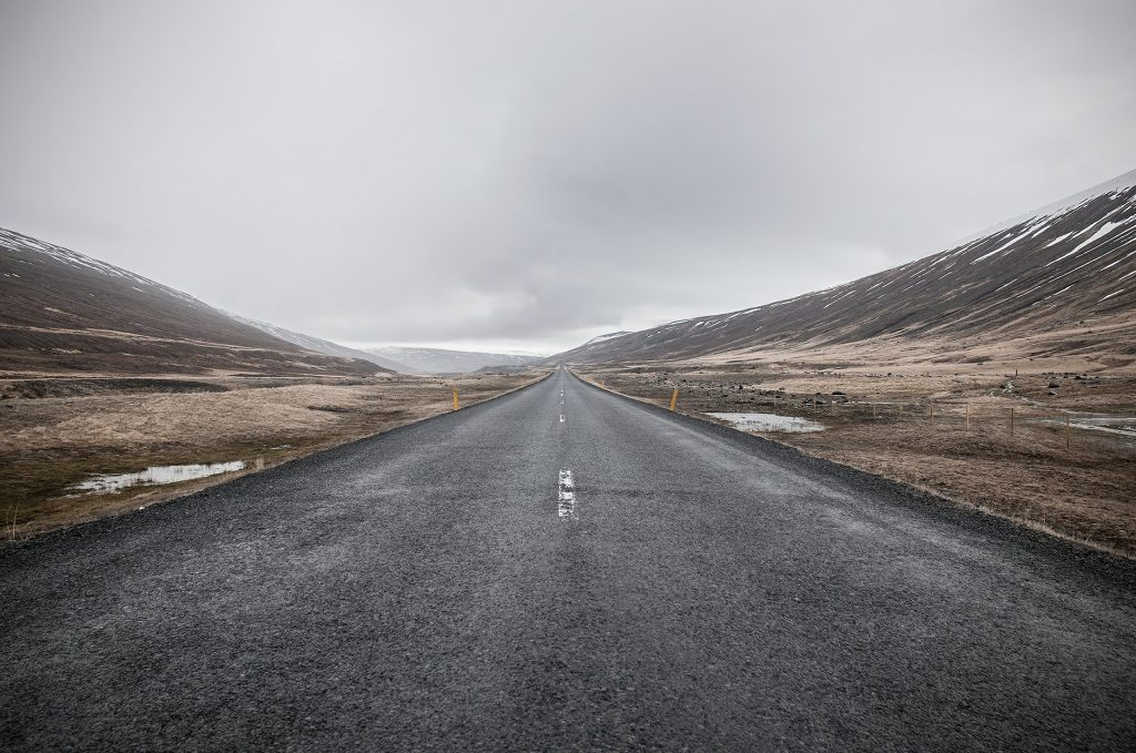 empty road going off into the horizon